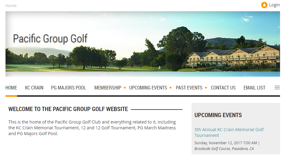 PGG Club Website Hosting