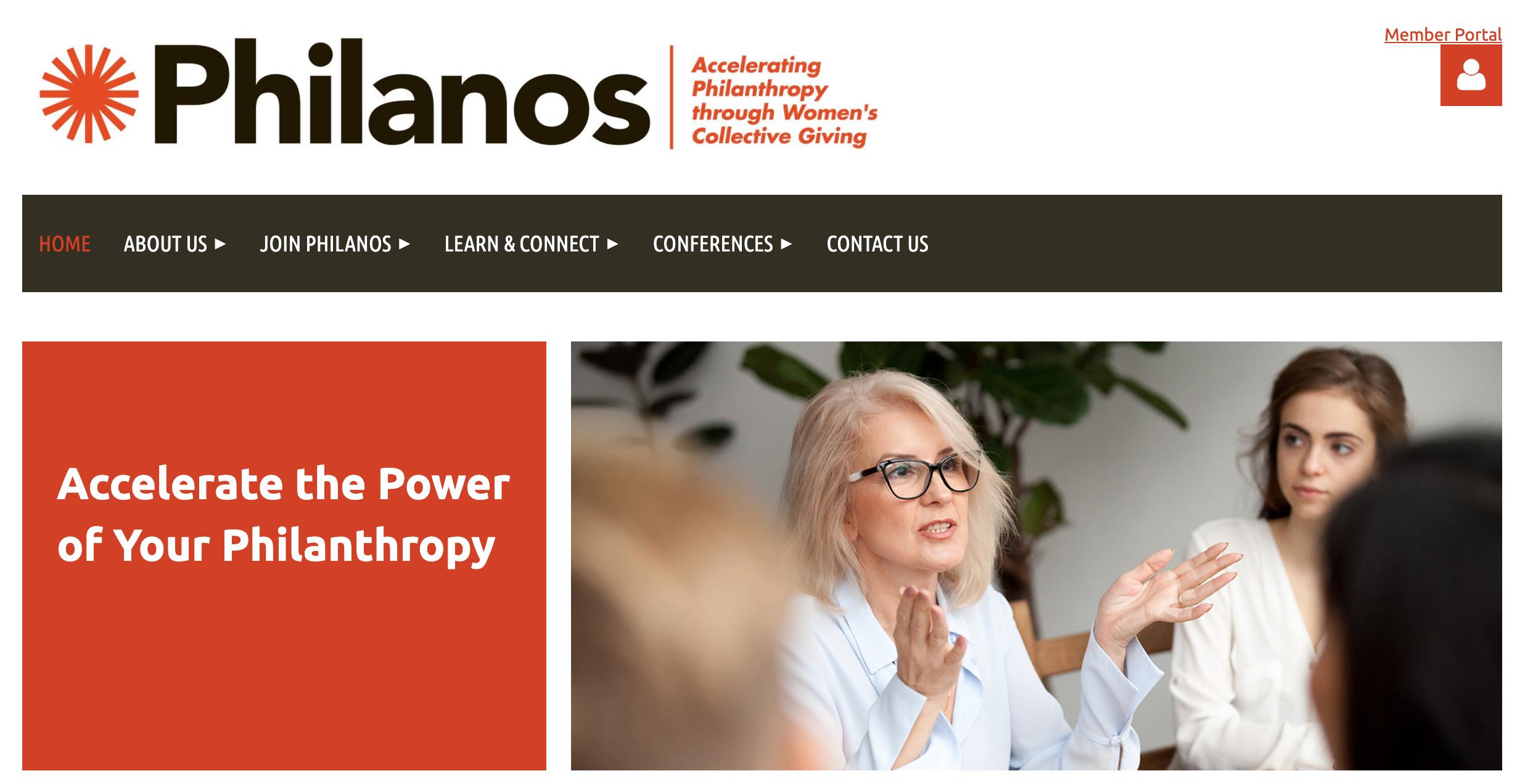 philanos nonprofit website