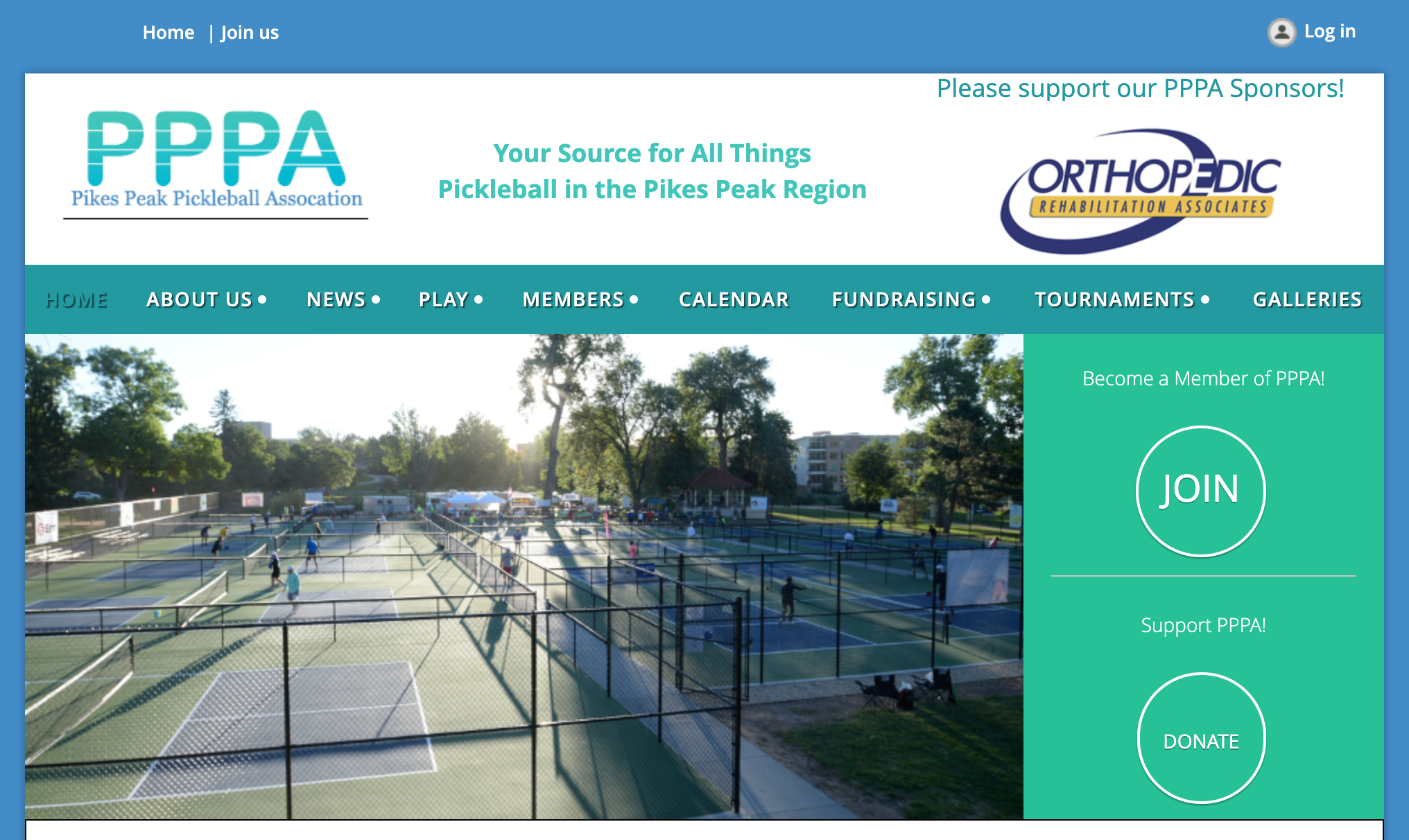 Pikes Peak Pickleball Association website