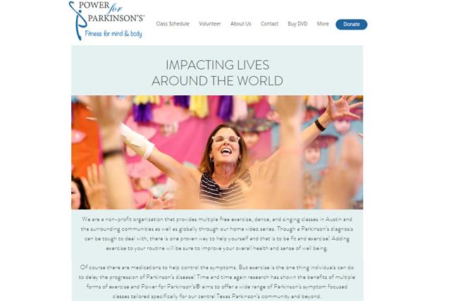 Power for Parkinsons best nonprofit website