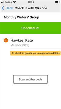 qr code mobile already check in