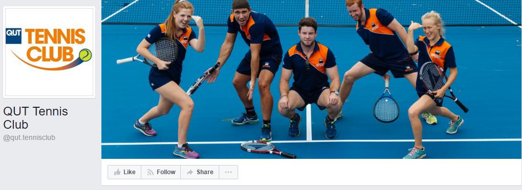 qut tennis fclub facebook page
