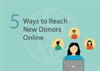 reach new donors online