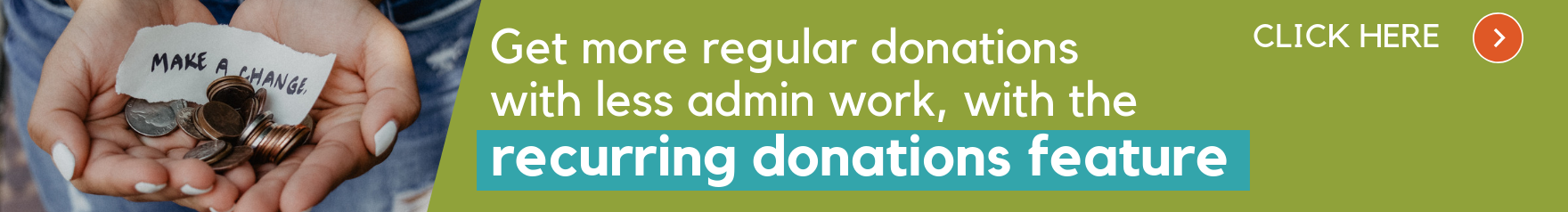 Recurring donation in post banner