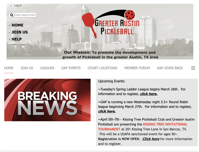 pickleball club management software