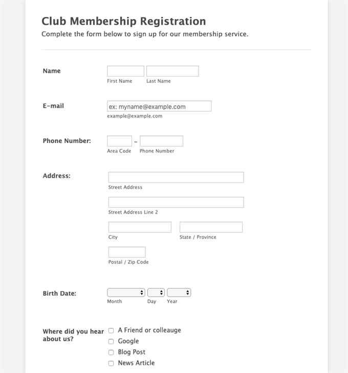 5 Expert Tips To Improve Your Membership Application Form | Wild