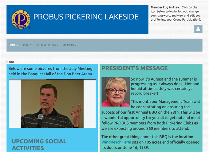 probus club software