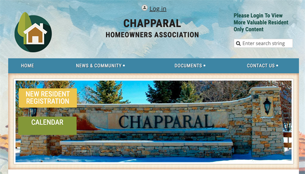 Chapparal Homeowners Association website