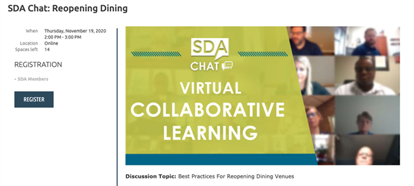 sda chat reopening dining