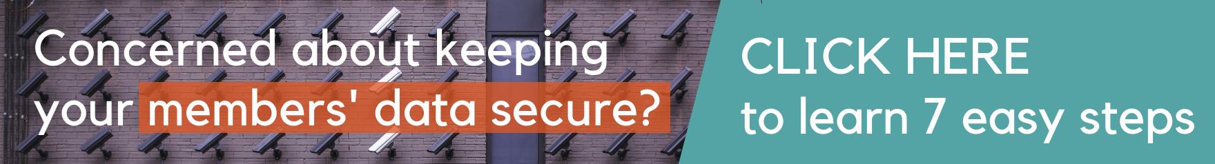 Secure member data banner