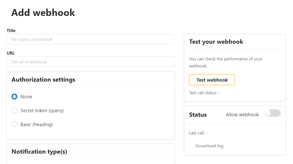 Set up webhooks