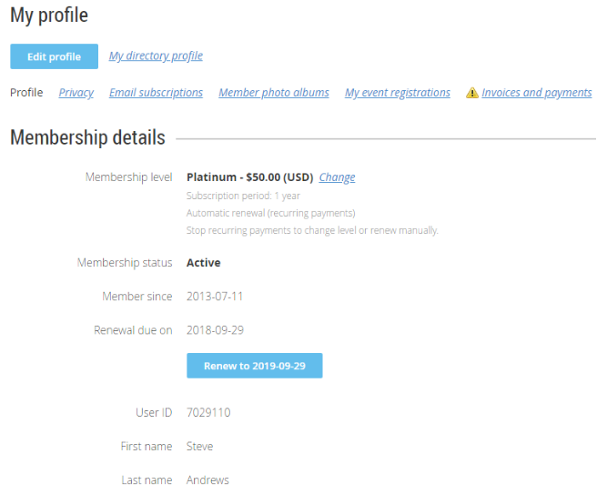Simple Membership Site Database
