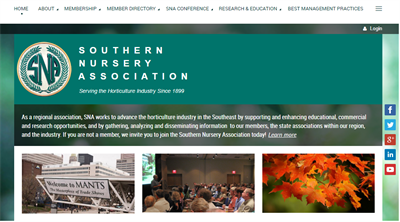 SNA Membership Website Example