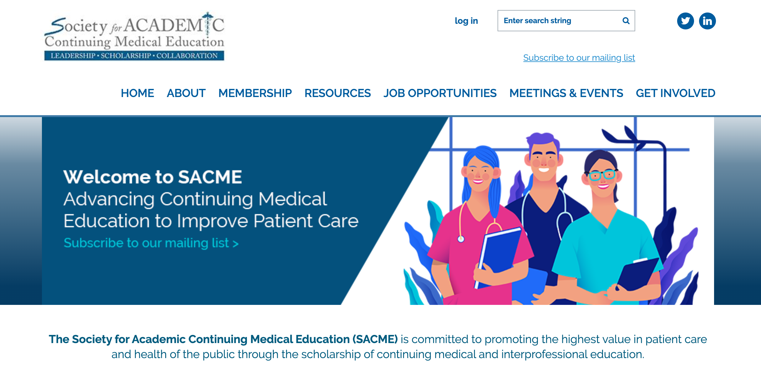Society for Academic Continuing Medical Education website
