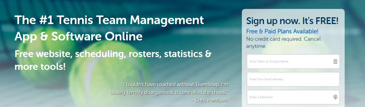 teamsnap tennis club software