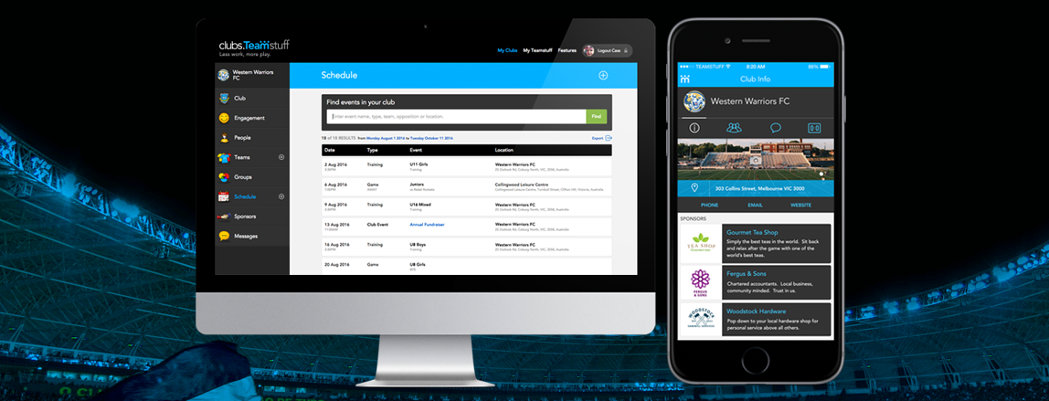 Teamstuff sports team management app