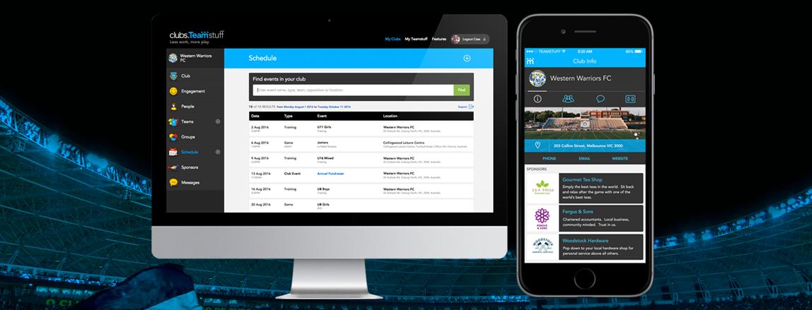 Teamstuff sports team management app