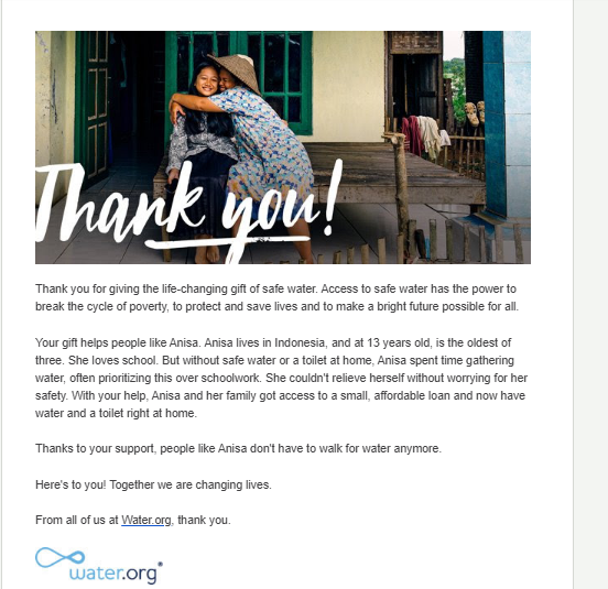 thank you letter for donation