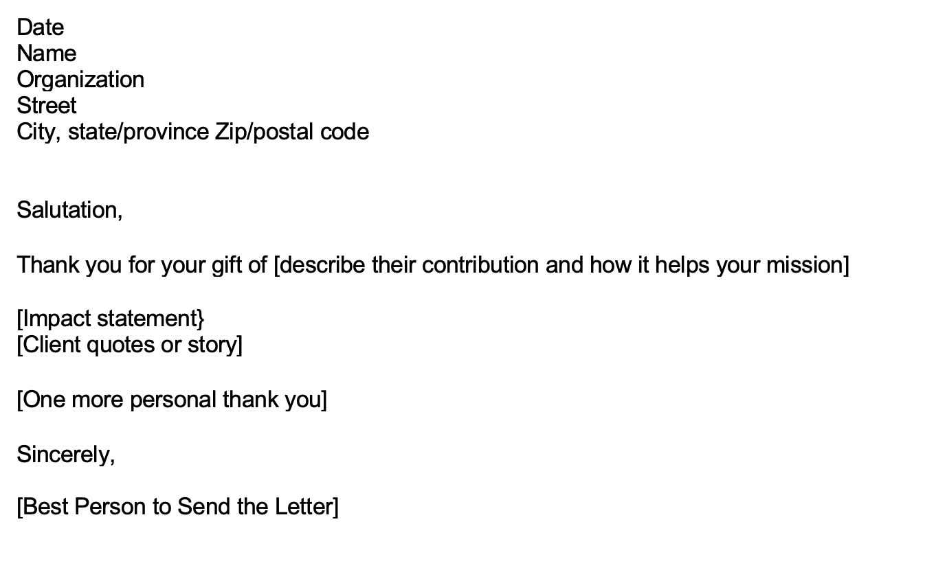 thank you letter for in kind donation