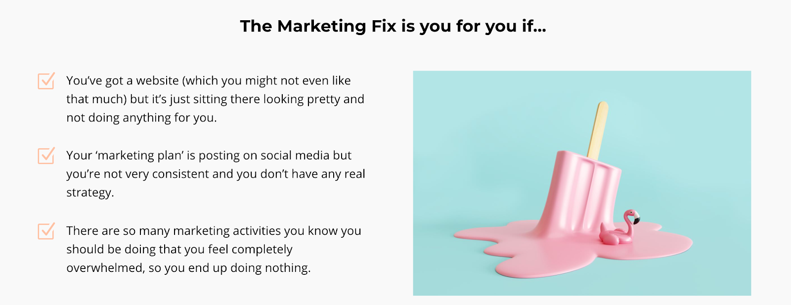 the marketing fix is for you if