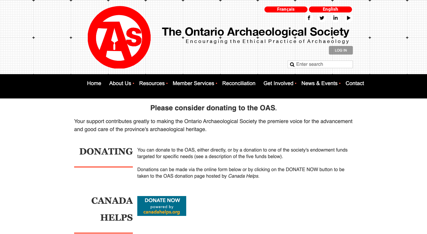The Ontario Archaeological Society