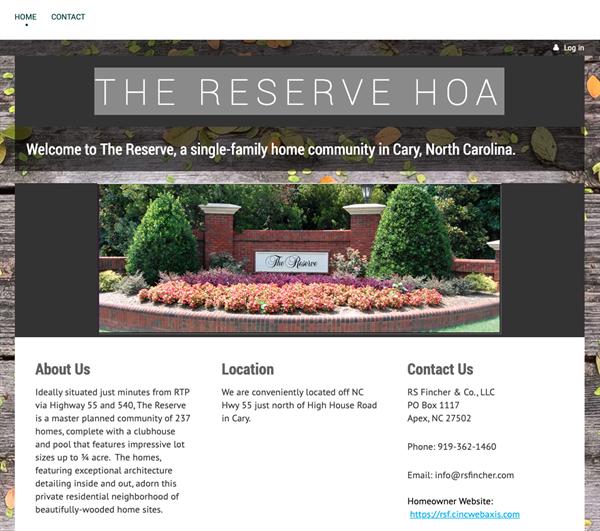 the reserve hoa website