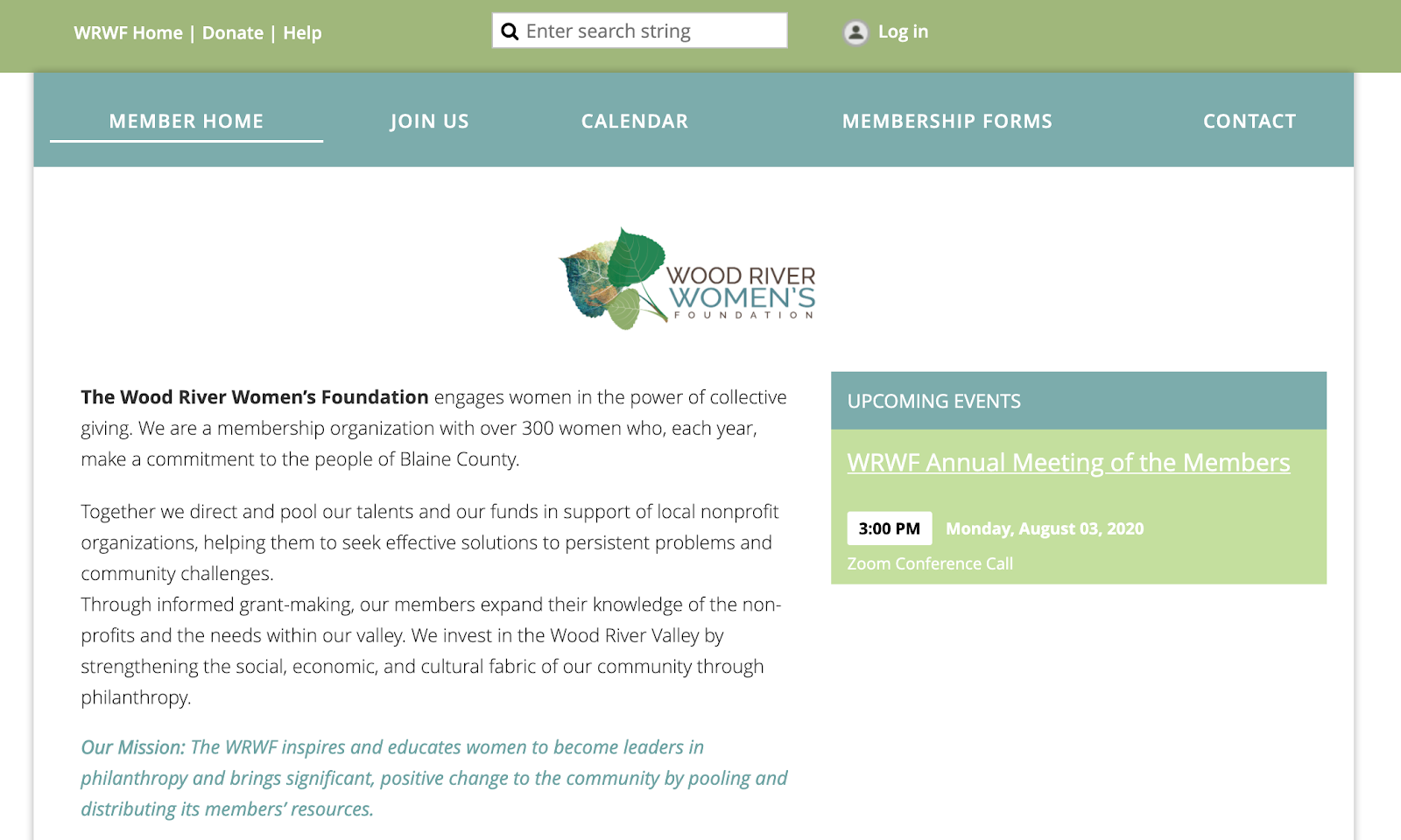 The Wood River Women's Foundation