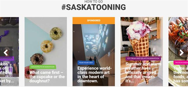 Tourism Saskatoon best nonprofit website