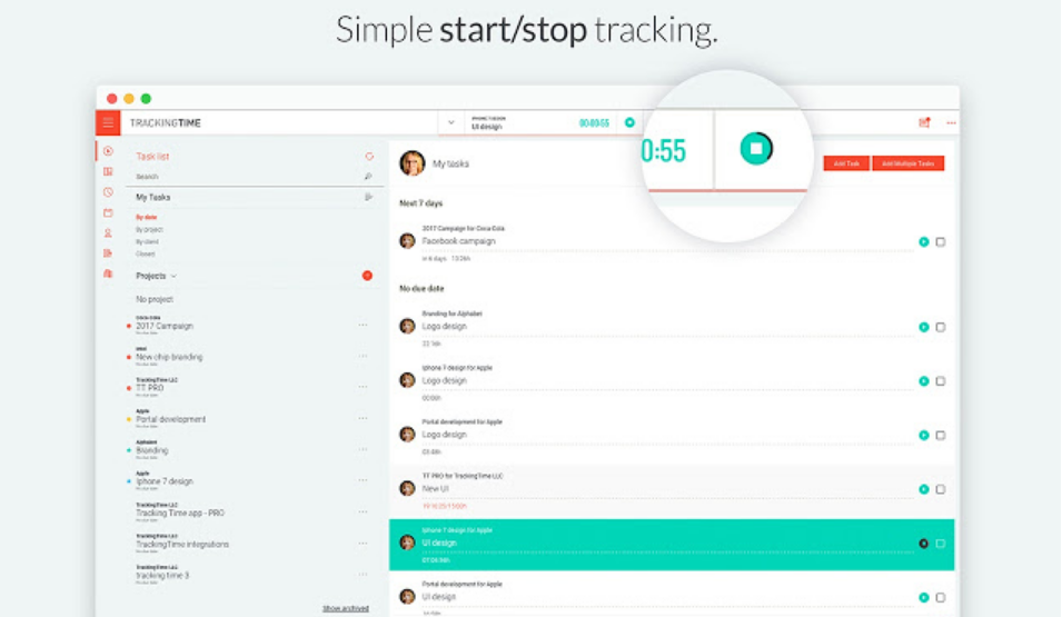 Tracking Time Management App