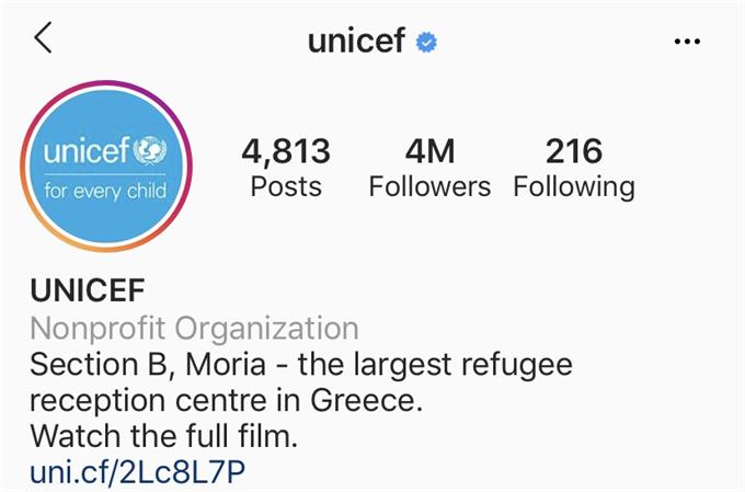unicef link in bio instagram