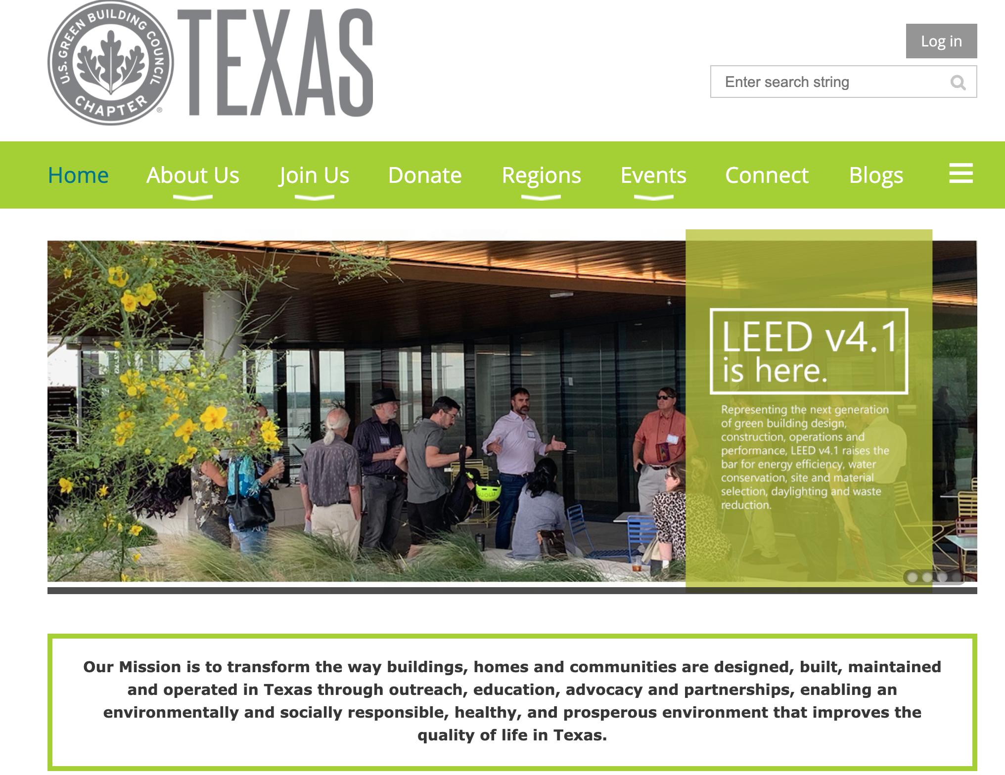 us green building texas ams website