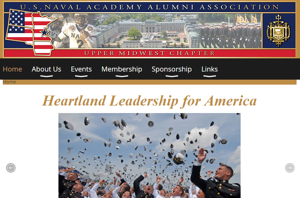 USNA Membership Website Example