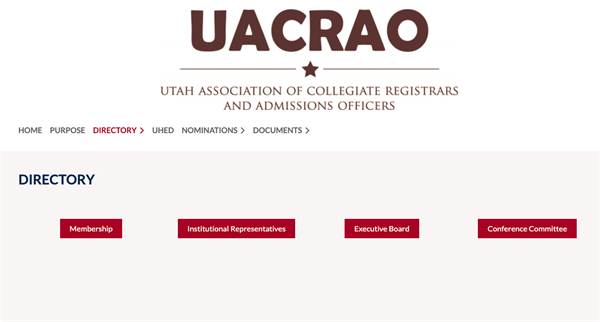 Utah Association of Collegiate Registrars and Admissions Officers