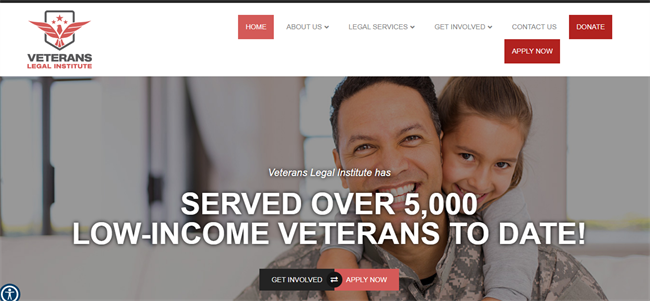 Veterans Legal Institute best nonprofit website