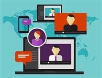 Virtual meeting webinar crop