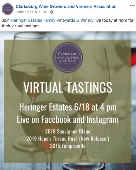 virtual wine tasting fb event