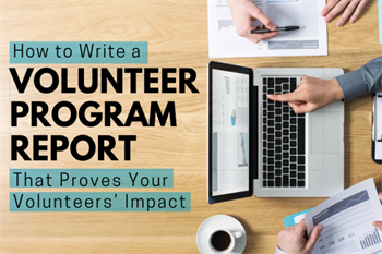 volunteer report blog newsletter image