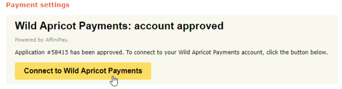 WA Payments account approved