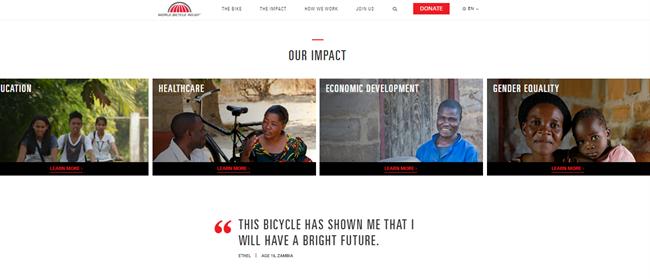 WBR 2 best nonprofit website
