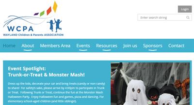 WCPA Membership Website Example