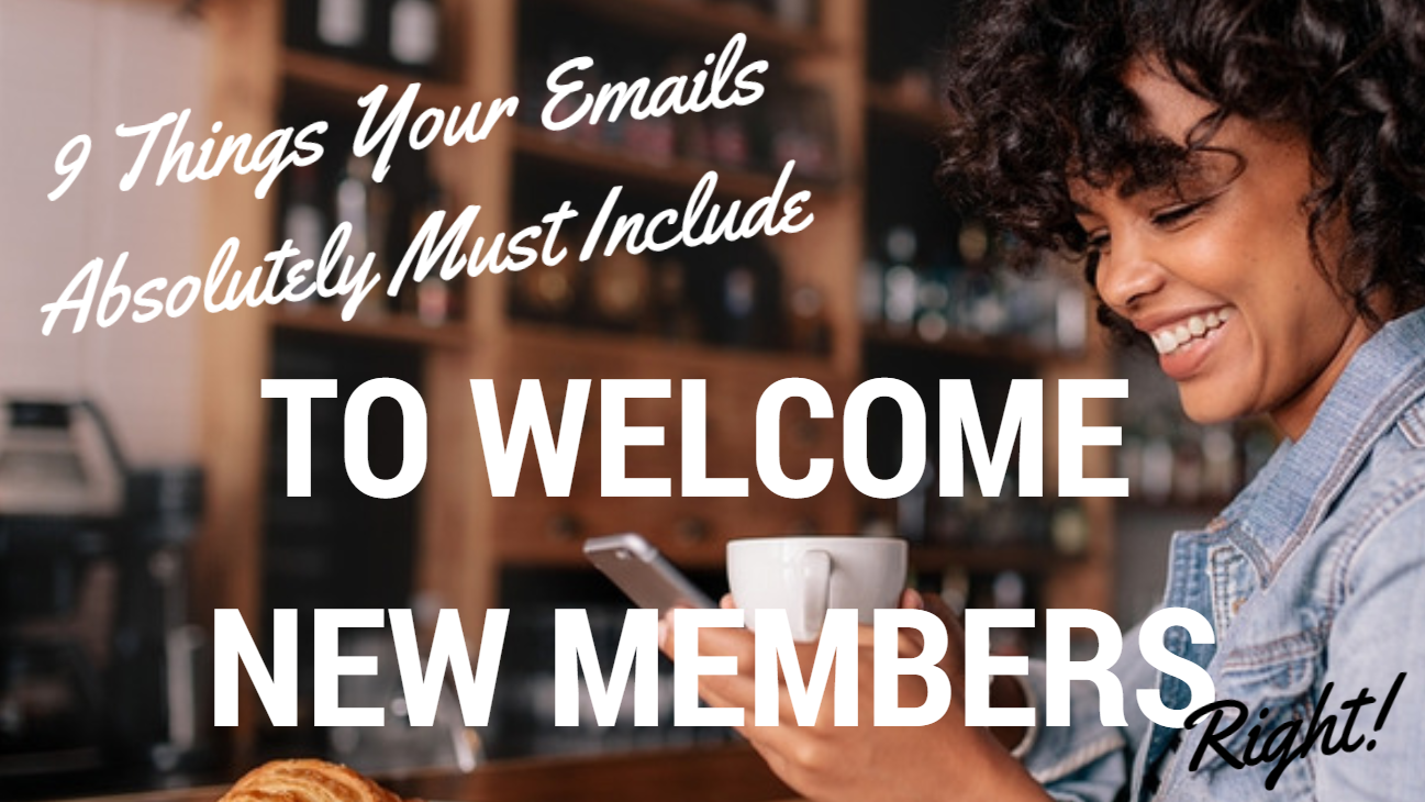 Welcome New Members Email