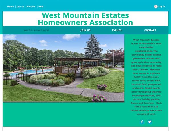 West Mountain Estates Homeowners Association website