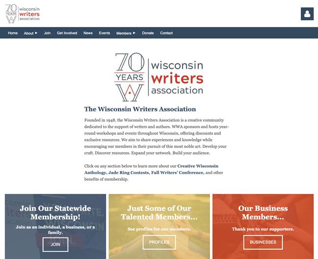 wisconsin writers association best nonprofit website