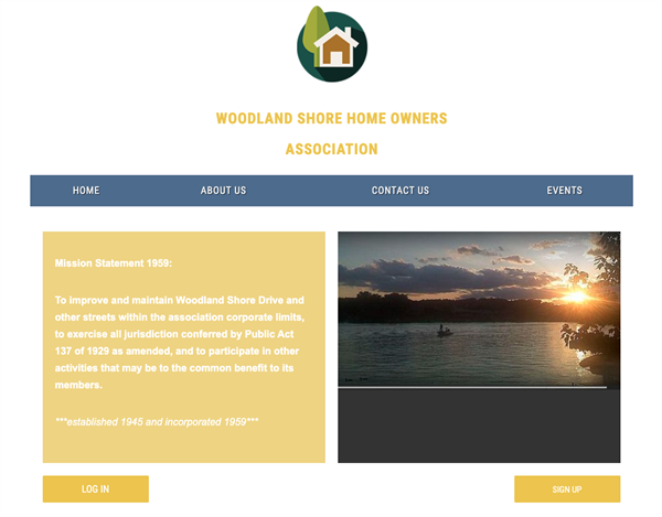Woodland Shore Home Owners Association website