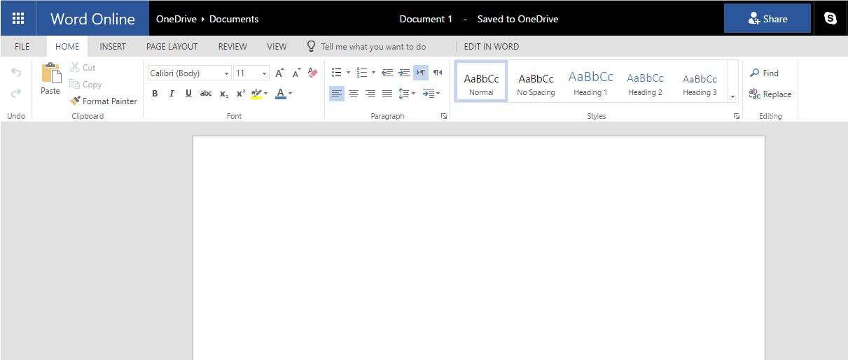 MS Word Online Editor