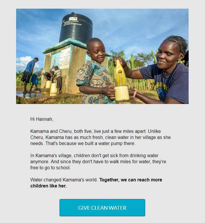 world vision email appeal