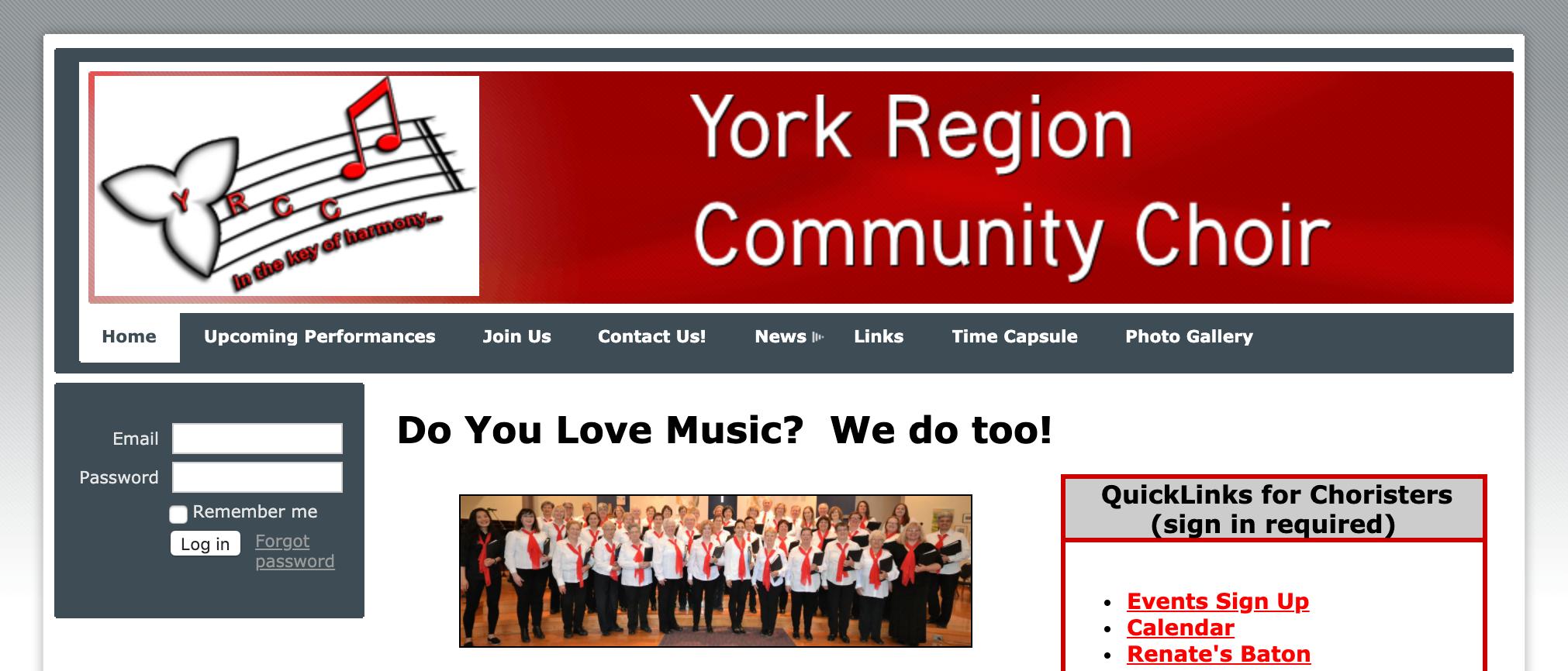 york region community choir