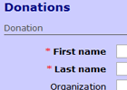 Create quick and secure donation forms