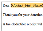Connect with your donors