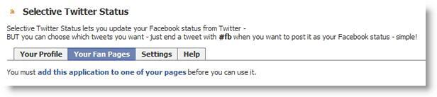 Selective Twitter application screenshot